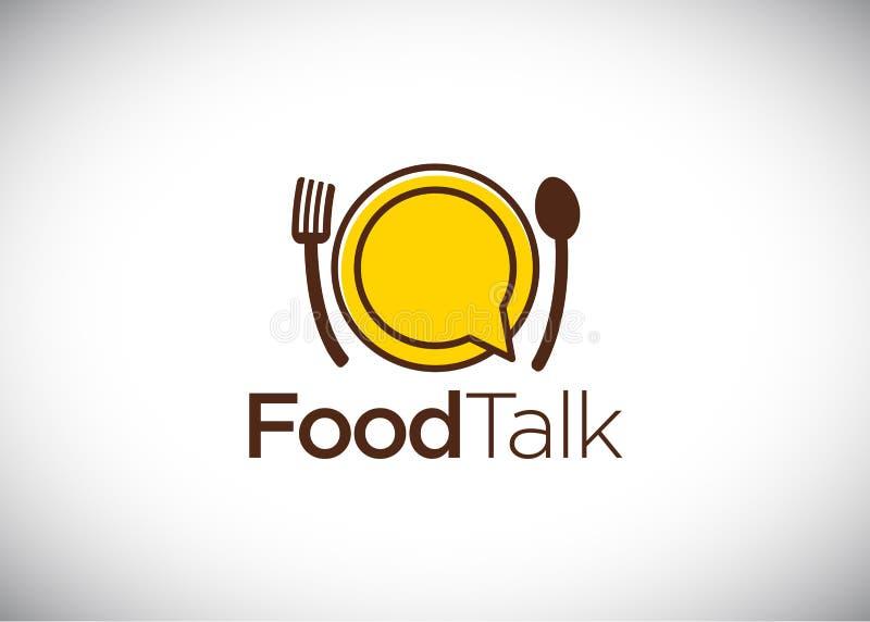 Food talk logo template stock illustration