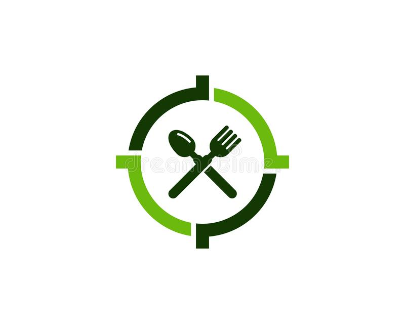 Food Target Logo Icon Design. This design can be used as a logo, icon or as a complement to a design royalty free illustration