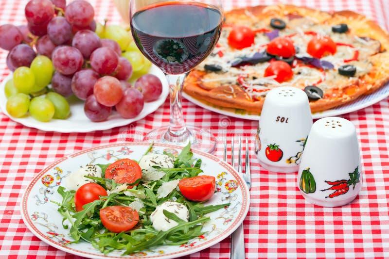 Food - tasty italian dinner stock photography