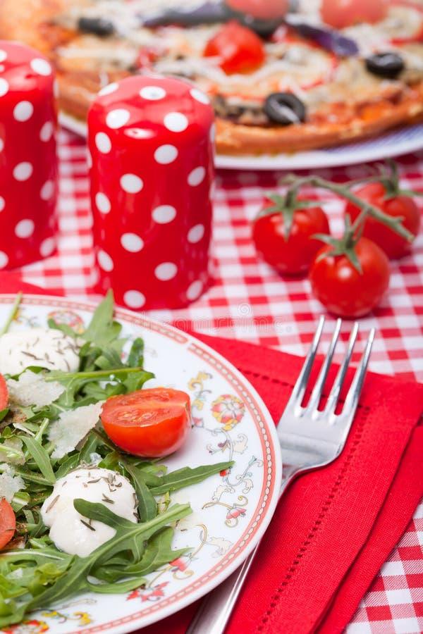 Food - tasty italian dinner stock photos