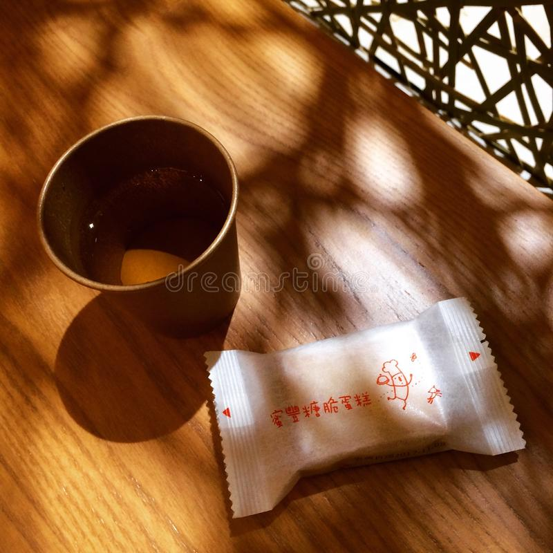 Food tea cookies afternoon rest royalty free stock photography
