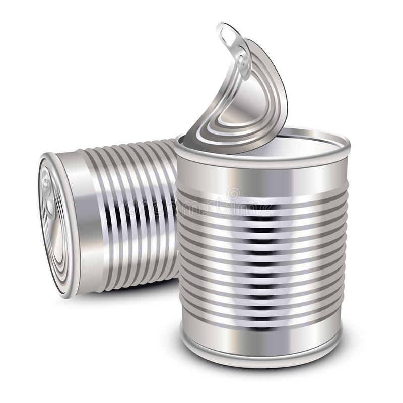 Food tin cans royalty free illustration