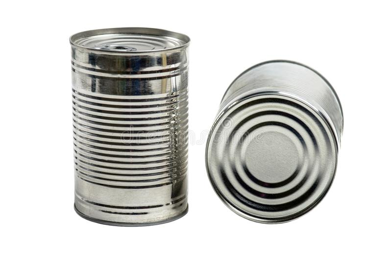 Food tin cans royalty free stock photo