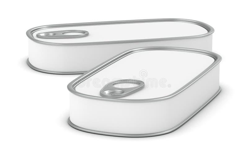 Food tin vector illustration