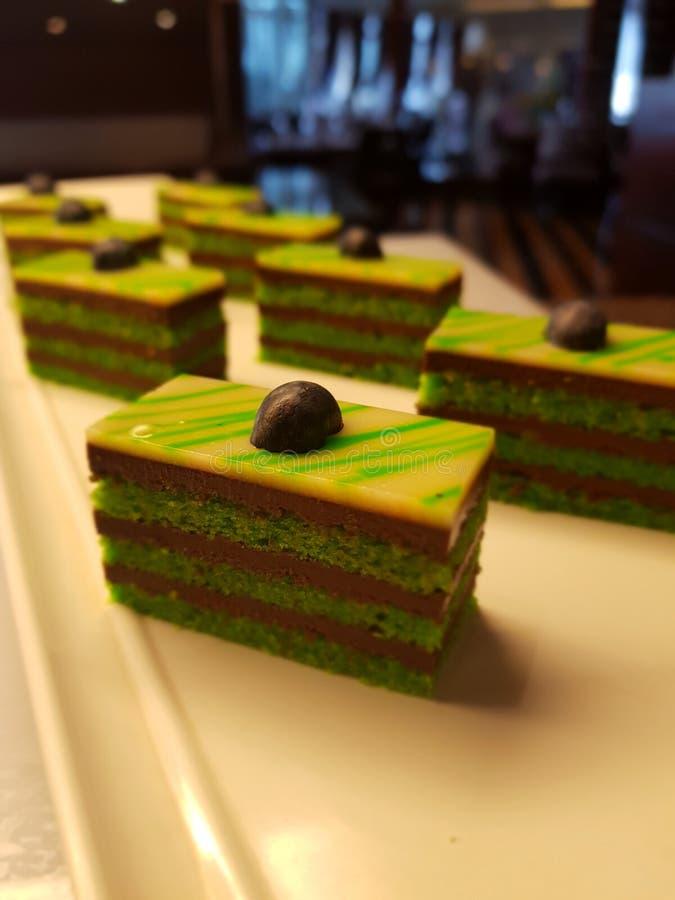 Pistachio pastry stock images