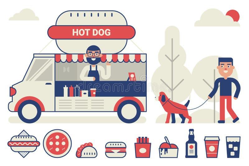 Food truck concept vector illustration