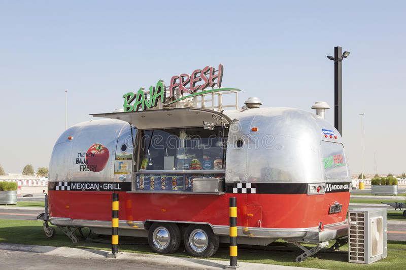 Food Truck in Dubai royalty free stock images
