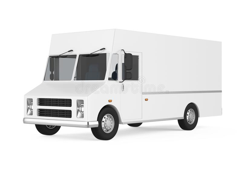 Food Truck Isolated. On white background. 3D render stock illustration