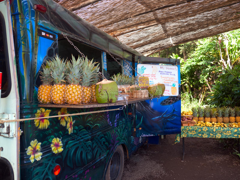 Food truck in Maui Hawaii royalty free stock photo