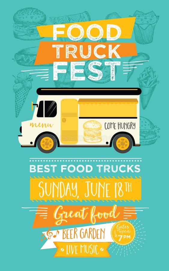 Food truck party invitation food menu template design for Food truck menu design