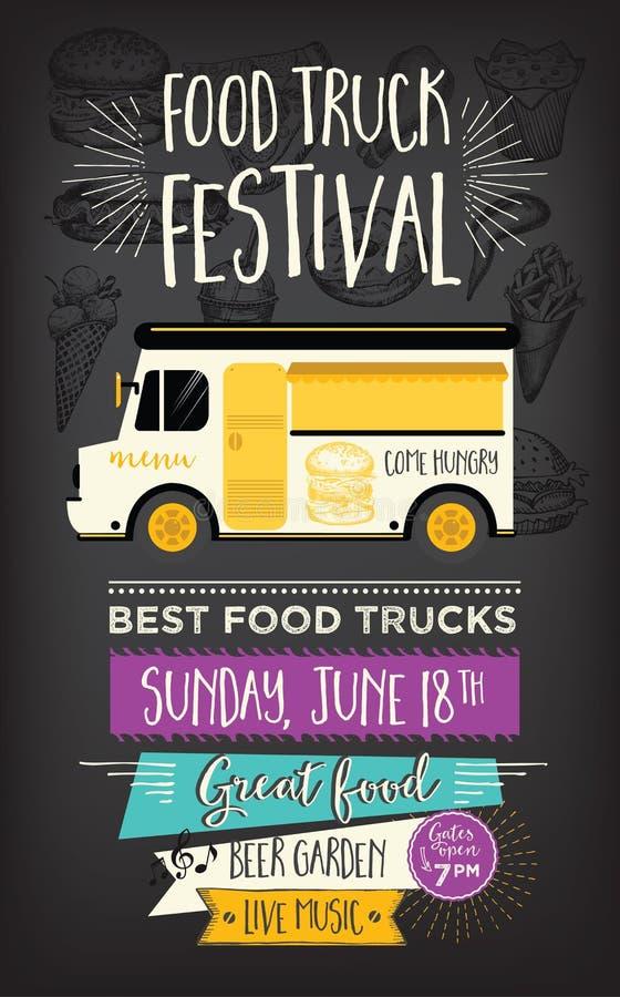 Popular Food Truck Party Invitation. Food Menu Template Design. Food Fly  AR17