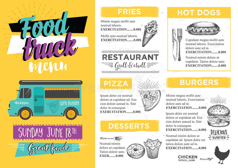 Only Burger Food Truck Menu