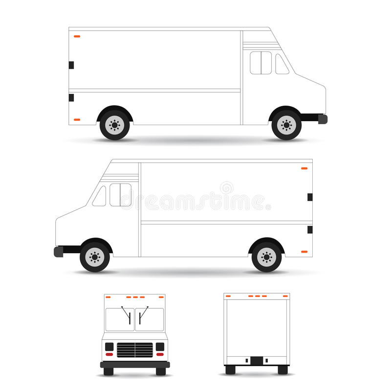 Food truck template outline stroke on white background can be download food truck template outline stroke on white background can be used for corporate identity pronofoot35fo Images