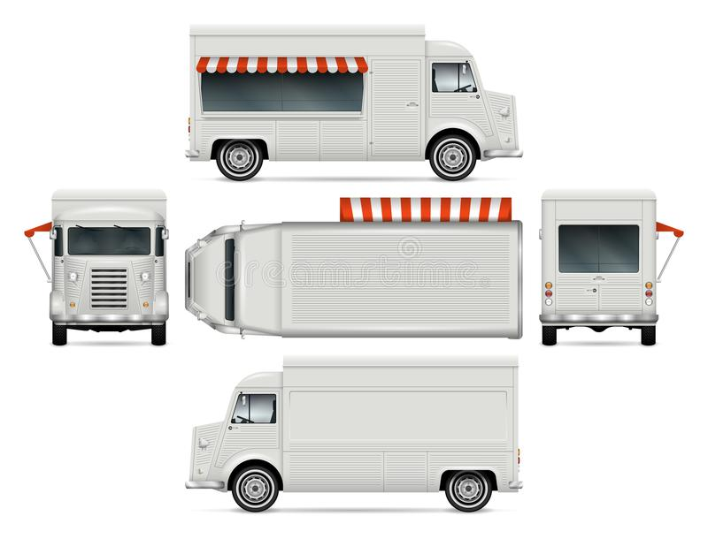 Food Truck Template royalty free illustration