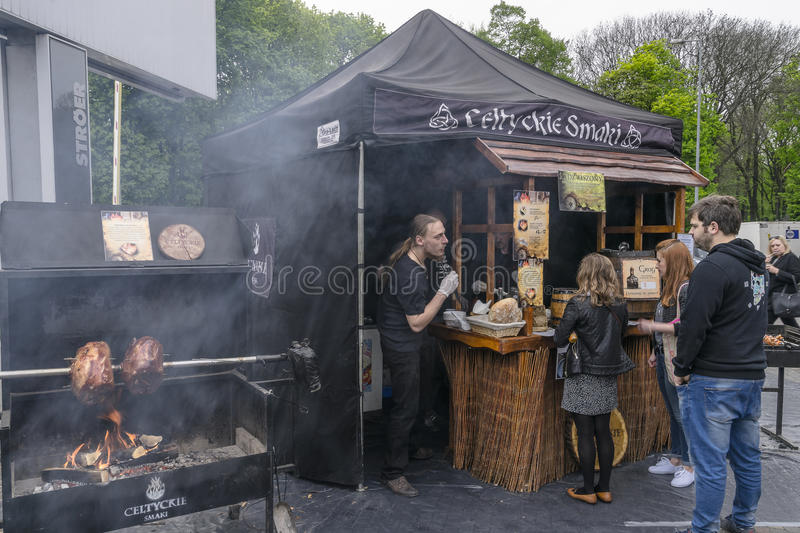 Food Trucks festival royalty free stock image