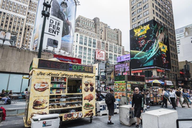 Food trucks in Manhattan in New York City, USA royalty free stock image