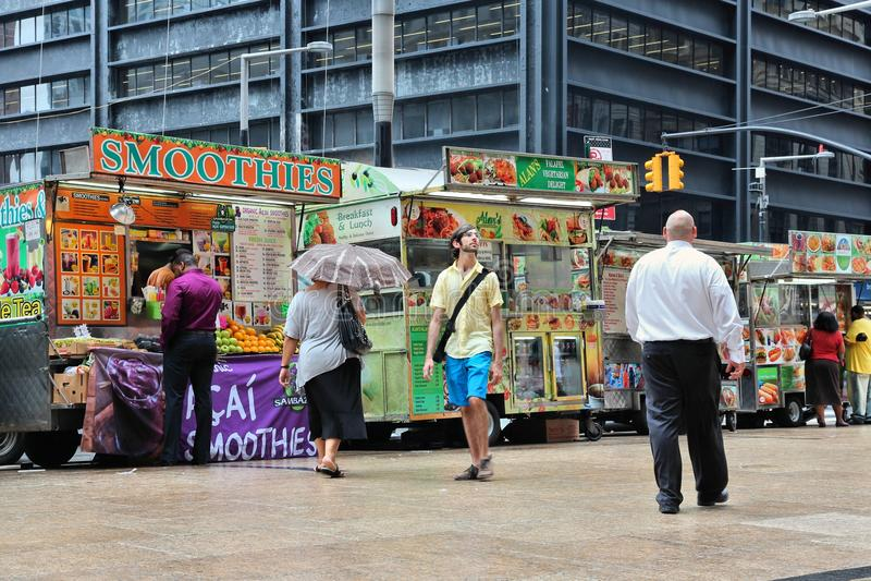 Food trucks, New York royalty free stock photos