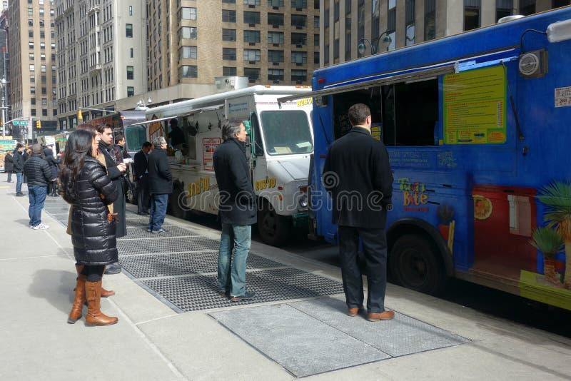 New York City Food Trucks stock photography