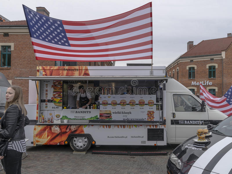 Food Trucks royalty free stock photography