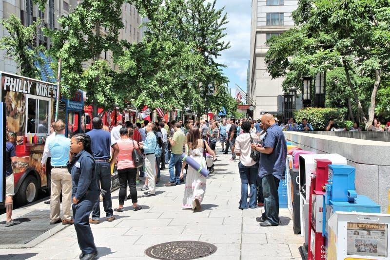 Food trucks, USA royalty free stock photos