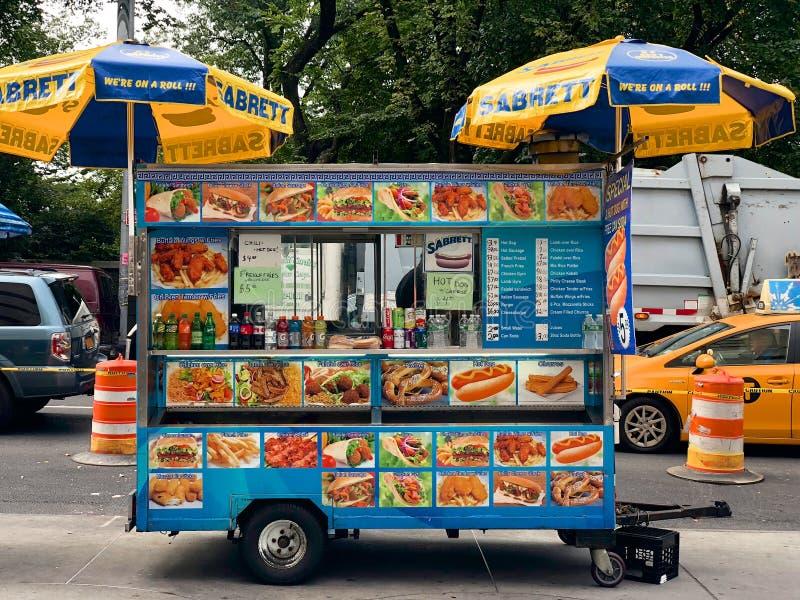 Food Trucks vendors in New York City, USA royalty free stock photo
