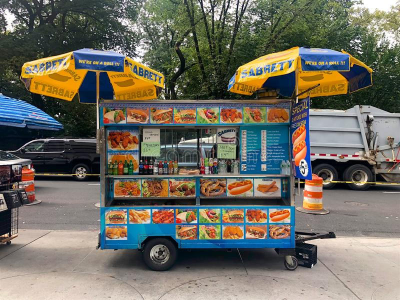 Food Trucks vendors in New York City, USA royalty free stock images