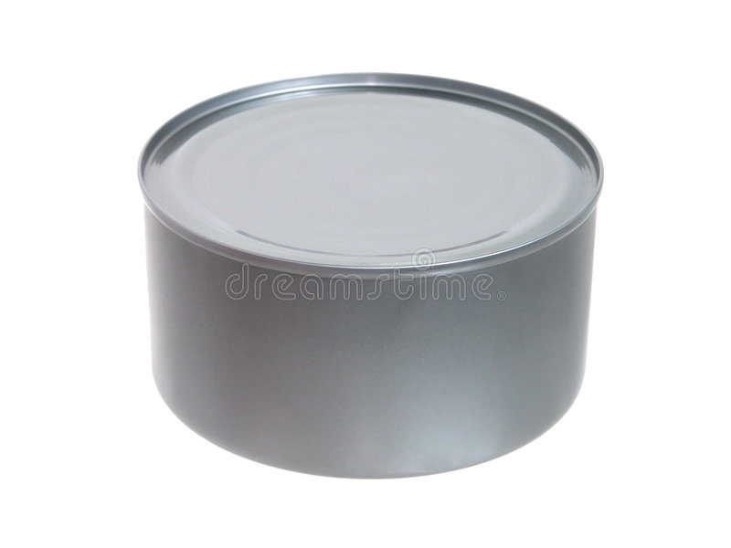 Food: Tuna in a Can Unopened stock photos