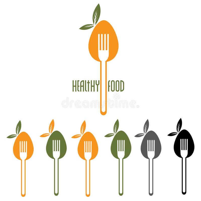 Food vector design template stock illustration