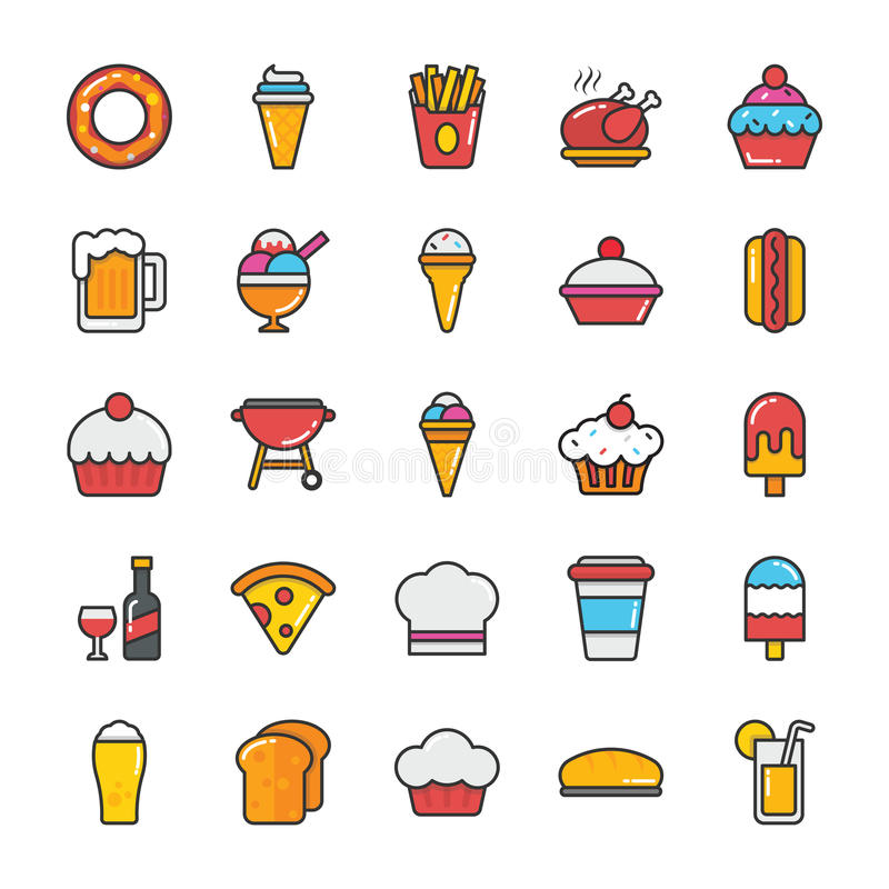 Food Vector Icons 2 vector illustration