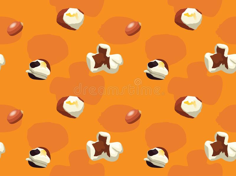 Popcorn Popping Sequence Background Wallpaper. Food Wallpaper EPS10 File Format royalty free illustration
