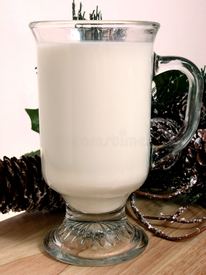 Food: Warm Milk at Bedtime stock image