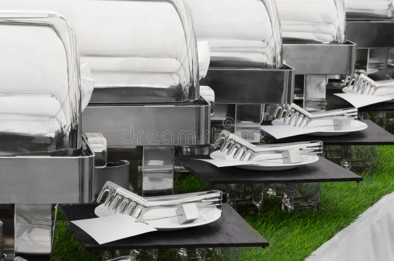 Food warmers royalty free stock photo