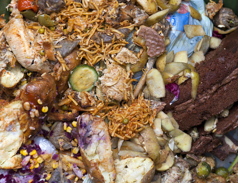 Food Waste. For Recycling, Close up stock photo