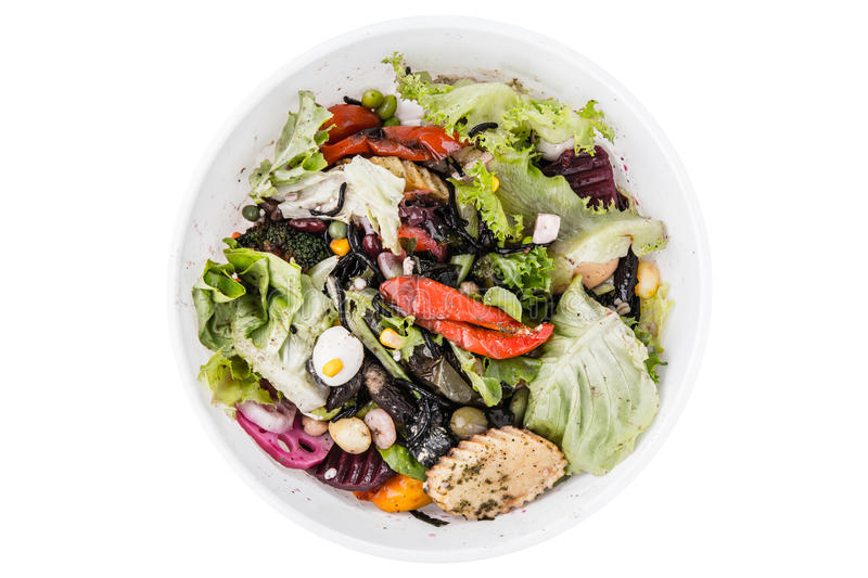 Food waste and scraps stock photo