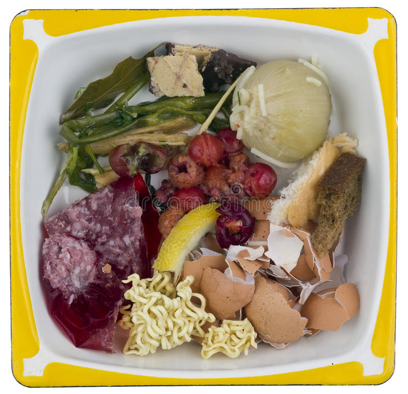 Food waste and scraps royalty free stock images