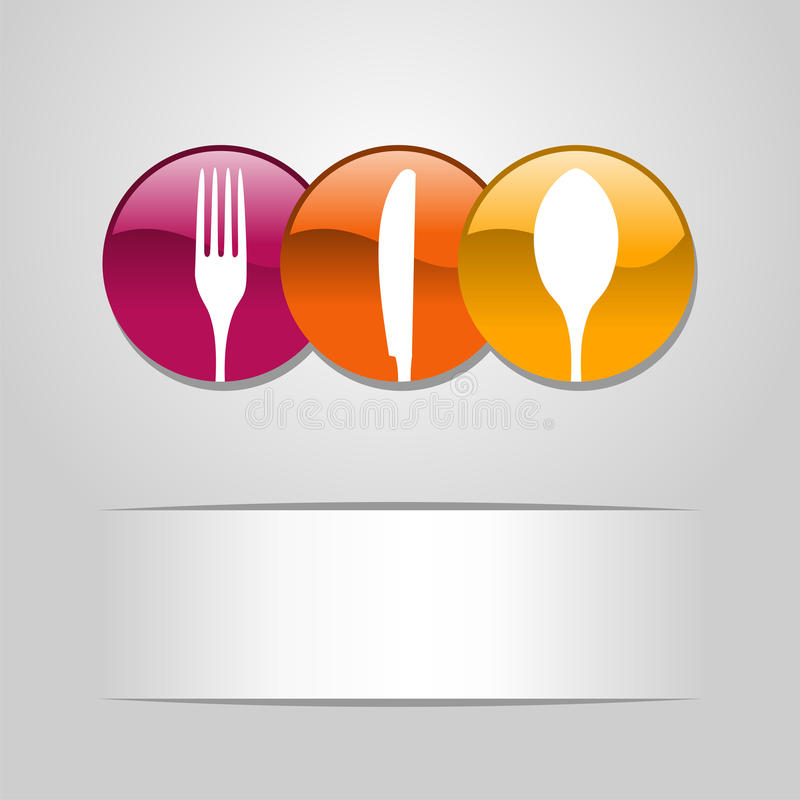 Food web button icons stock illustration
