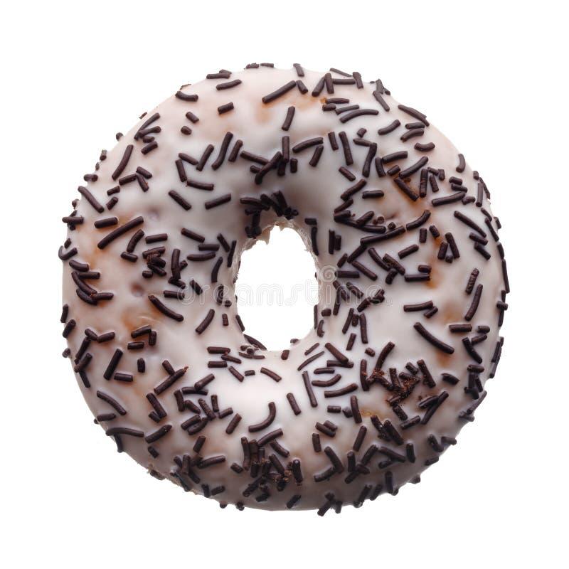 White glaze donut stock images