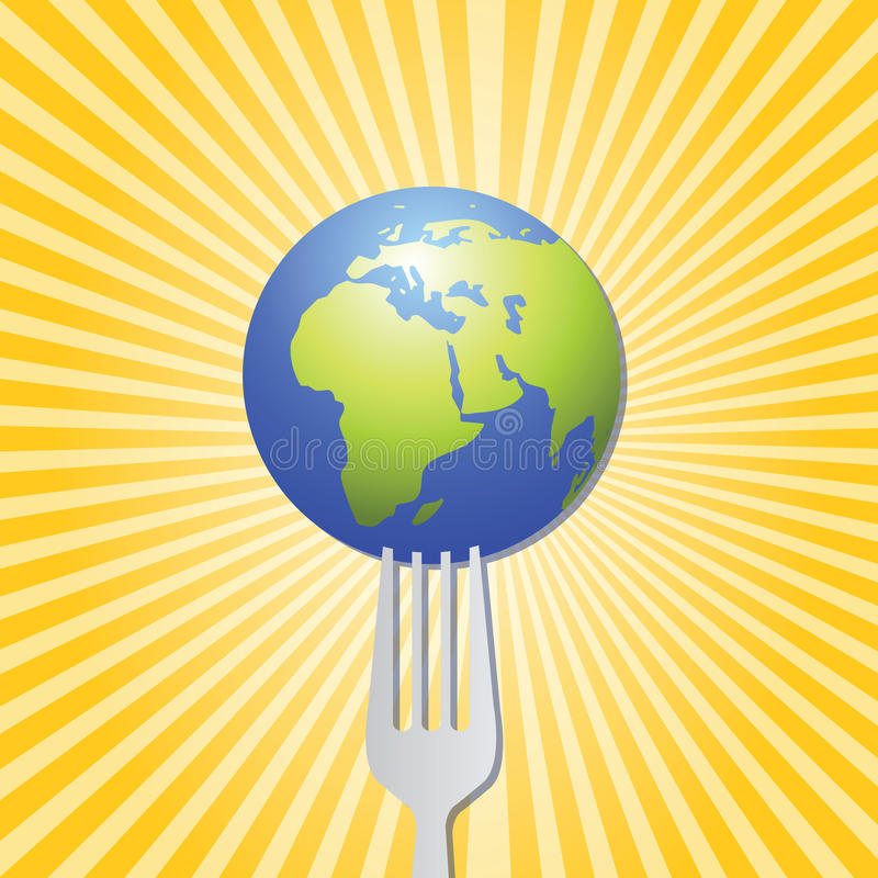 Food Of The World Artwork Royalty Free Stock Images