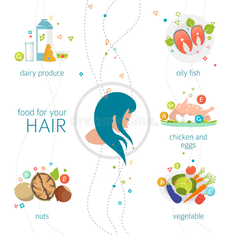 Food for your hair royalty free illustration