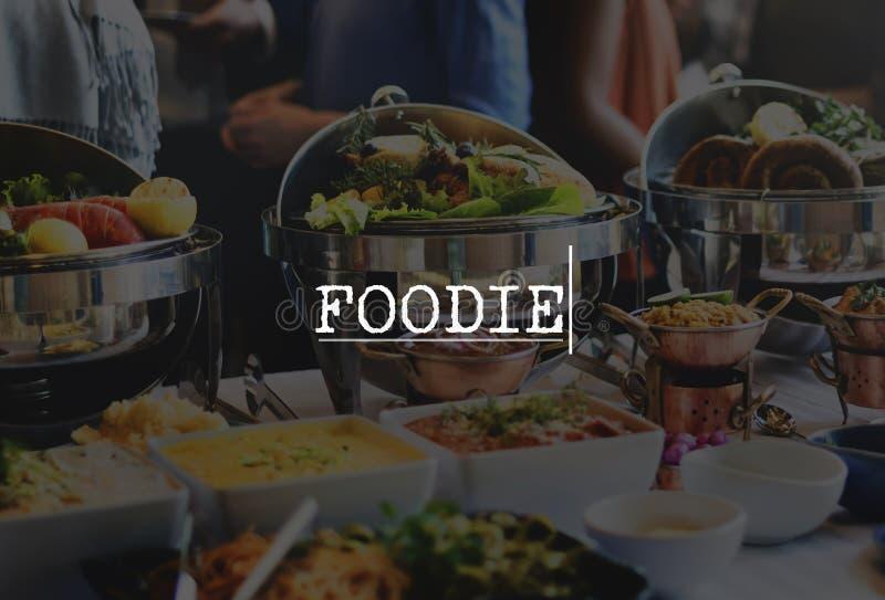 Foodie-Abendessen-neues feinschmeckerisches Mahlzeit-Naturkost-Konzept lizenzfreies stockfoto