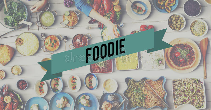 Foodie Food Eating Party Celebration Concept.  stock photos