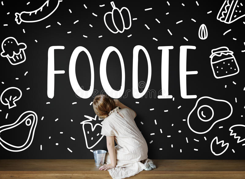 Foodie Gourmet Cuisine Eat Meals Concept. Foodie Gourmet Cuisine Eat Meals stock photography