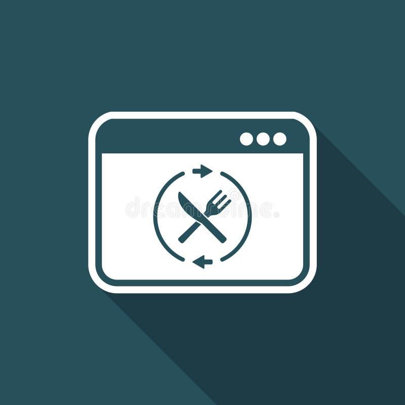 Fooding full rengöringsdukservice - plan symbol för vektor stock illustrationer