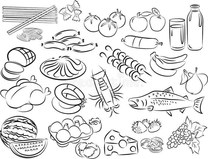 Foods royalty ilustracja