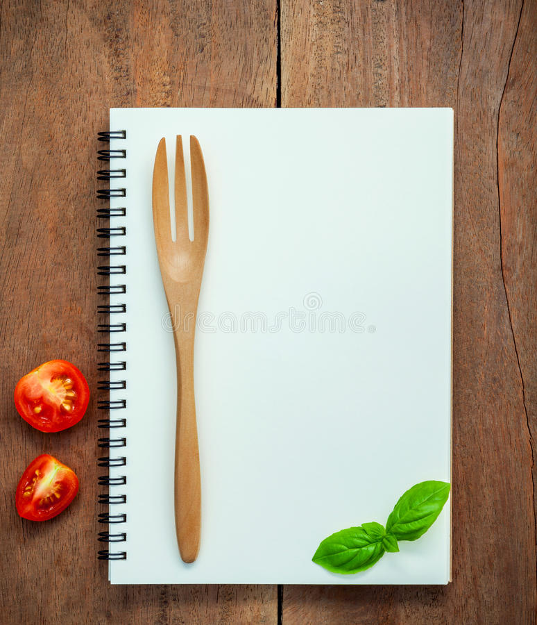 Foods background and Food menu design sweet basil and cherry tom royalty free stock images