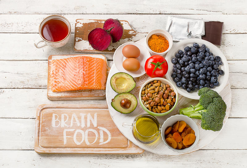 Foods for brain. Healthy eating Concept. royalty free stock photo