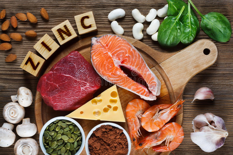 Foods High in Zinc royalty free stock image
