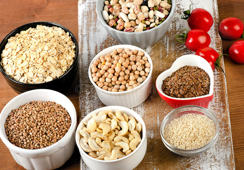 Foods highest in Copper stock photo