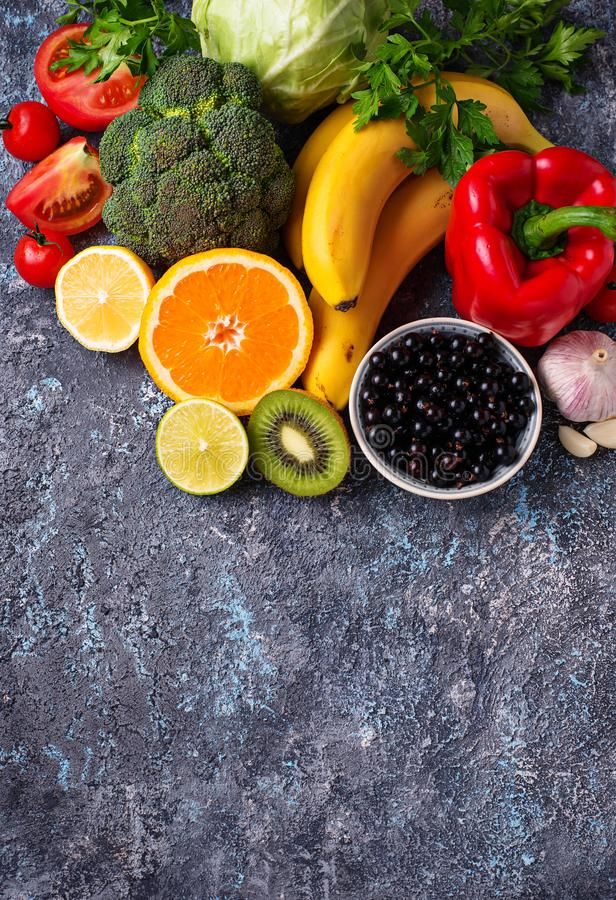 Foods rich in vitamin C. Healthy eating stock images