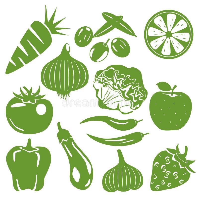Free Foodstuff Green Icons Set Stock Photos - 18534553